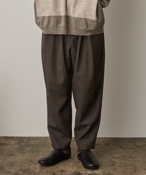 正規品 2019秋冬 よそいきオーバータックパンツ-C -CHECK-(スラックス) Dulcamara(ドゥルカマラ)のファッション通販, 大阪京菓:178e9836 --- 5613dcaibao.eu.org