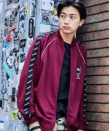 Kappa/カッパ 別注 袖サイドライントラックジャケット/ジャージレッド