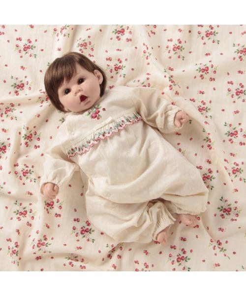 野イチゴ刺繍兼用ドレス
