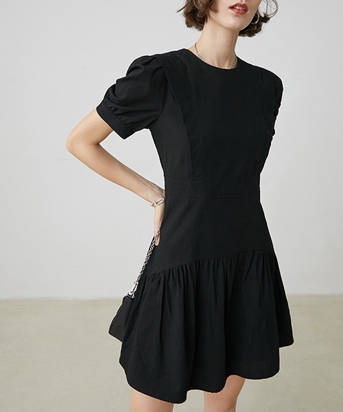 【Fano Studios】【2021SS】Round neck high waist dress FX20L167