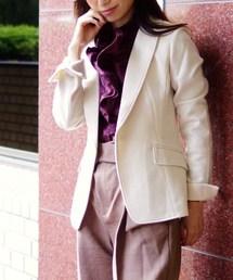 NARACAMICIE(ナラカミーチェ)の【セットアップスーツ対応】バーズアイテーラードジャケット(スーツジャケット)