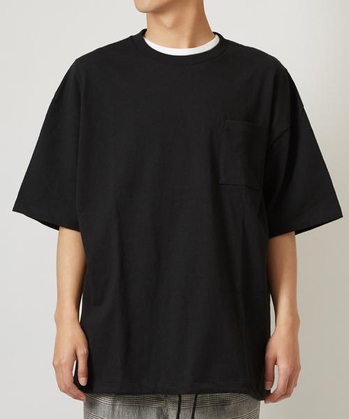 裾スピンドルビッグシルエット半袖Tシャツ