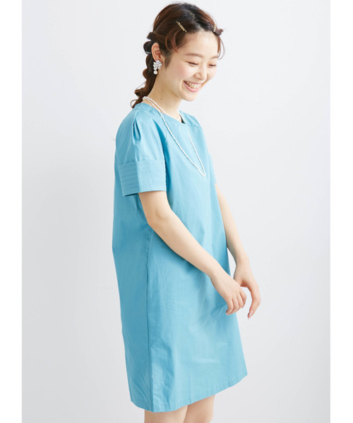 haco!(ハコ)の「エムトロワ 袖がミルフィーユみたいなワンピース(ワンピース)」|ターコイズブルー