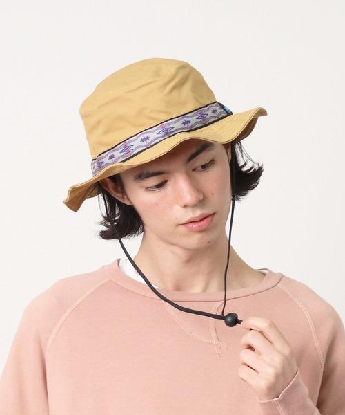 【 KAVU / カブー 】 Strap Bucket Hat ストラップ バケットハット キャンプハット