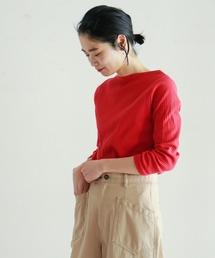 NOMBRE IMPAIR(ノンブルアンペール)のリブプリーツ ボートネックカットソー(Tシャツ/カットソー)