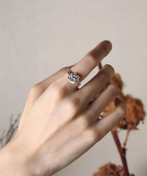 【YArKA/ヤーカ】silver925 bind coad ring[mus3] /結び紐リング シルバー925