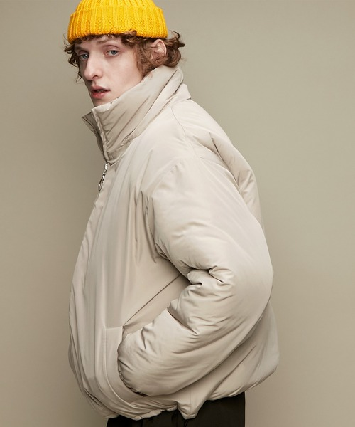 オーバーサイズ スタンドカラー リングZIP ストリング エコダウンジャケット EMMA CLOTHES