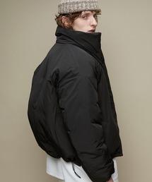 オーバーサイズ スタンドカラー リングZIP ストリング エコダウンジャケット EMMA CLOTHES 2020-2021WINTERブラック