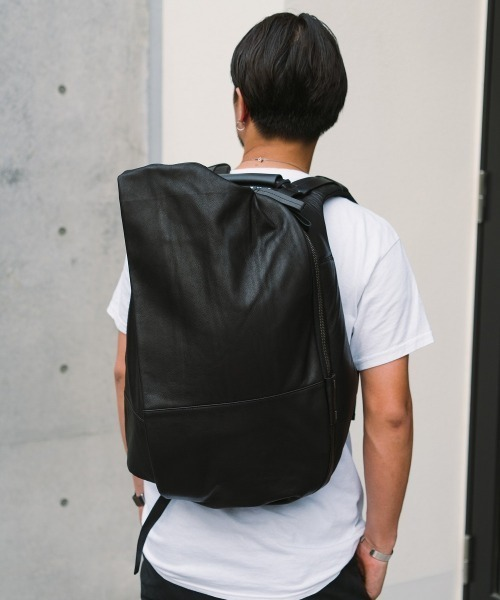 cote&ciel コートエシエル ISAR M ALIAS COWHIDE LEATHER - Agate Black