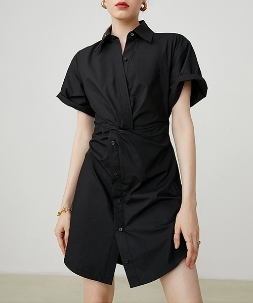 【Fano Studios】【2021SS 先行予約】Twist design shirts dress FX20L194