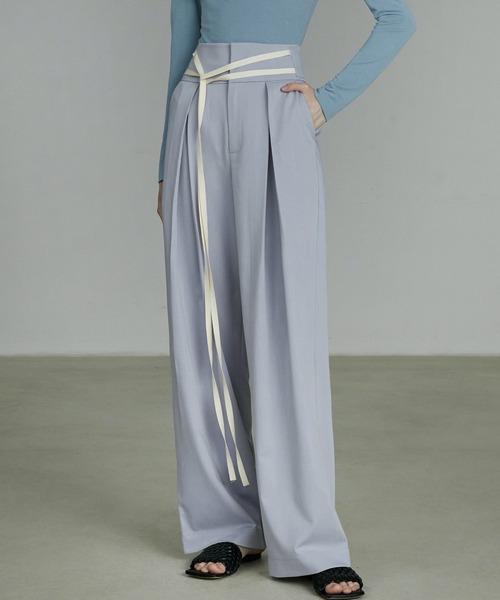 【UNSPOKEN】Color wide pants UQ20K017
