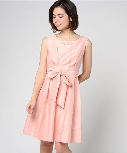 【大放出セール】 ウエストリボン付ドレス, c-watch company 73c852f1