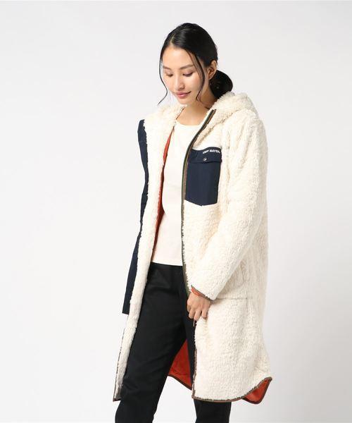 シャギーボアロングジャケット