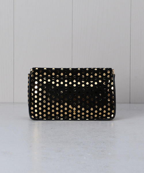 <JEROME DREYFUSS>DOTTED CLUTCH BAG/クラッチバッグ о