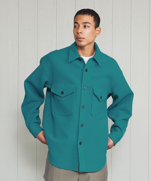 <H>WOOL CASHMIERE BIG CPO/ジャケット
