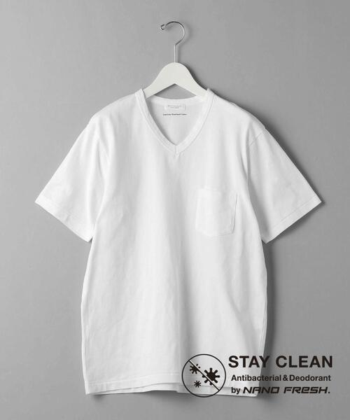 BY ナノフレッシュ 1ポケット Vネック Tシャツ/抗菌・防臭機能搭載