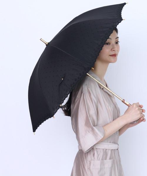 ∴晴雨兼用 UV バリアT/C刺繍ショート傘 27077