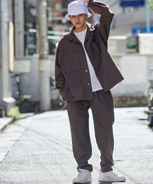 Mark Gonzales(マーク・ゴンザレス)の【セットアップ】Mark Gonzales/マークゴンザレス MONO-MART別注 CPOシャツジャケット & シェフパンツ(セットアップ)