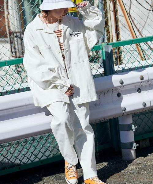 【セットアップ】Mark Gonzales/マークゴンザレス MONO-MART別注 セットアップ CPOシャツジャケット & シェフパンツ/ツイル/ペイズリー/チェック/ホワイトデニム/ヒッコリー/カモフラージュ/メルトン
