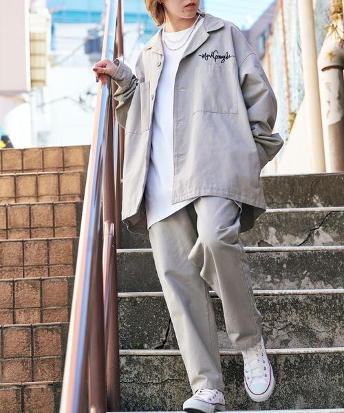 【セットアップ】Mark Gonzales/マークゴンザレス MONO-MART別注 CPOシャツジャケット & シェフパンツ