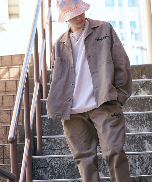 【セットアップ】Mark Gonzales/マークゴンザレス MONO-MART別注 CPOシャツジャケット & シェフパンツ ワンマイルウェア