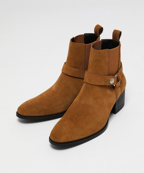 Cow Leather side gore ring heel Boots