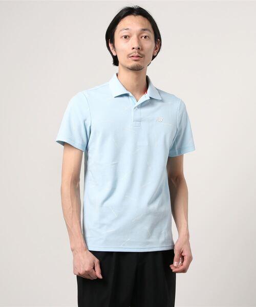 New Balance Golf(ニューバランスゴルフ)の「COOLMAX ストレッチカノコ 半袖ポロシャツ (MENS SPORT)(ポロシャツ)」 ブルー