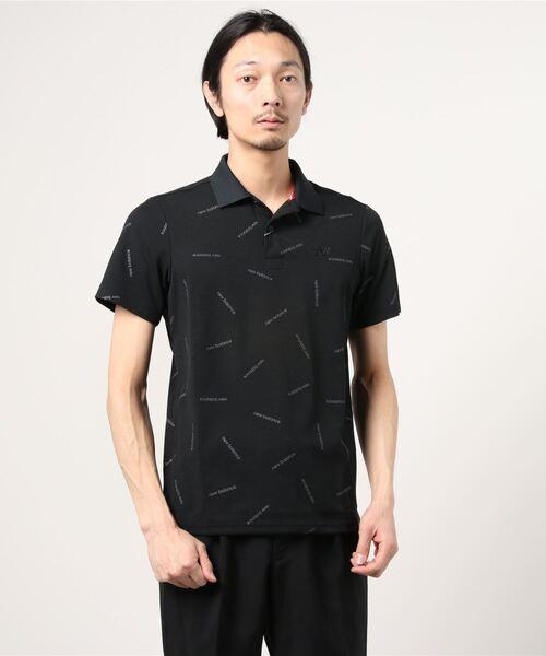 New Balance Golf(ニューバランスゴルフ)の「COOLMAX ストレッチカノコ 半袖ポロシャツ (MENS SPORT)(ポロシャツ)」 ブラック