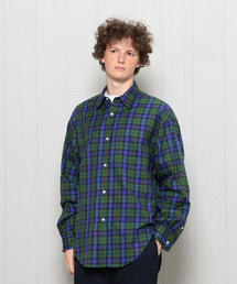 <H>TARTAN CHECK DOUBLE CUFFS SHIRT/シャツ
