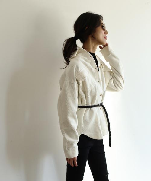 【SHAGGIE】コーデュロイルーズシャツ