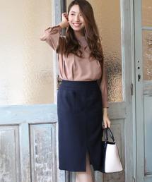 TRUDEA(トルディア)の(日本製)ウールライク ポケット付タイトスカート(スカート)