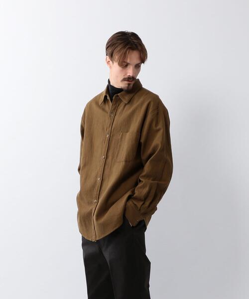 <Steven Alan> 10s TWILL REGULAR COLLAR SHIRT-LOOSE/シャツ