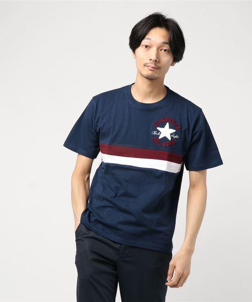 【CONVERSE】星柄サガラ刺繍Tシャツ