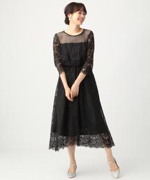 apart by lowrys(アパートバイローリーズ)のOC*スカラレースフレアワンピース  835741(ドレス)