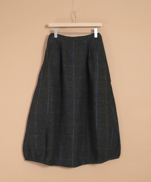 堅実な究極の [OMNIGOD OMNIGOD womens/ オムニゴッド] ウールリネンインディゴチェック バルーンスカート(スカート)/ OMNIGOD(オムニゴッド)のファッション通販, エコノミーオフィス-オフィス家具:3c7d8865 --- munich-airport-memories.de