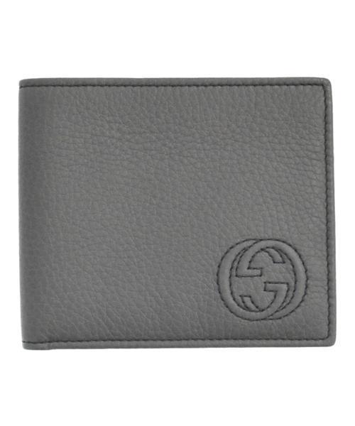huge discount 7c2e4 e75ce ワンポイントGGロゴステッチレザー二つ折り財布