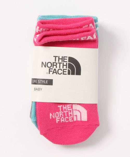 THE NORTH FACE(ザノースフェイス)の「NNB82010/B quarter 3P//ノースフェィスベビー用靴下3足セット(ソックス/靴下)」|ピンク