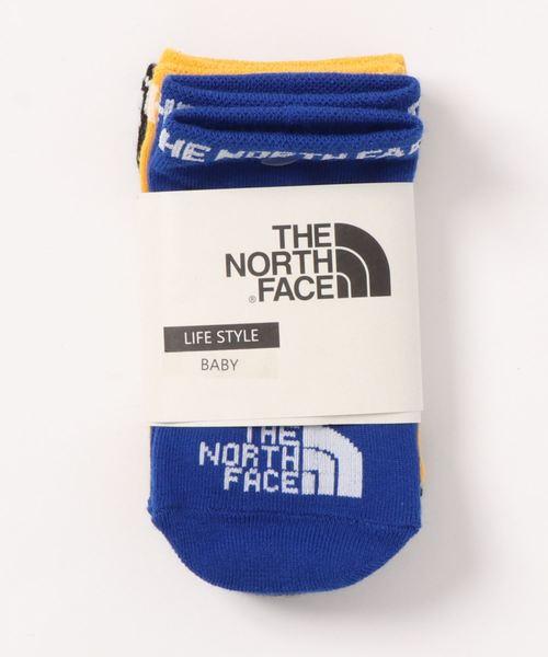 THE NORTH FACE(ザノースフェイス)の「NNB82010/B quarter 3P//ノースフェィスベビー用靴下3足セット(ソックス/靴下)」 イエロー