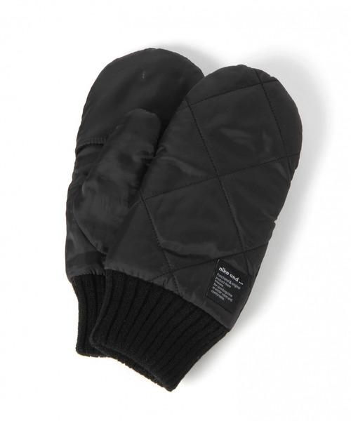 niko and...(ニコアンド)の「オリジナルウォームミトン(手袋)」|ブラック