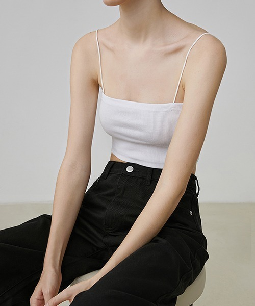 【Fano Studios】【2021SS】Cropped cotton camisole FX20S209