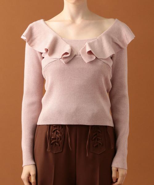 【オープニング大セール】 フリルショルダーリブニット(ニット/セーター)|DEICY(デイシー)のファッション通販, 播磨町:d014bfae --- fahrservice-fischer.de