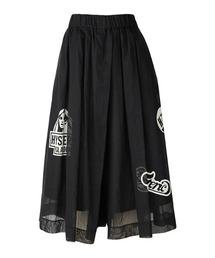SUNDAY GIRL タックキュロットスカートブラック