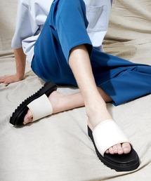 シャークソールサンダル/ベルクロ/ワンストラップ/ダブルモンク EMMA CLOTHES 2021SUMMERホワイト系その他