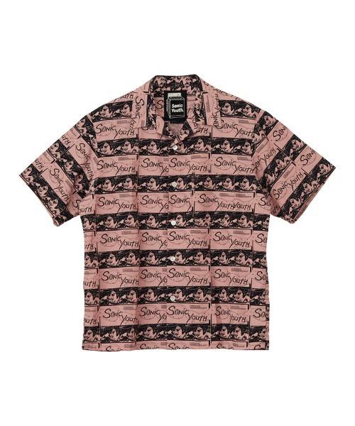 SONIC YOUTH/UG PATTERN柄 オープンカラーシャツ