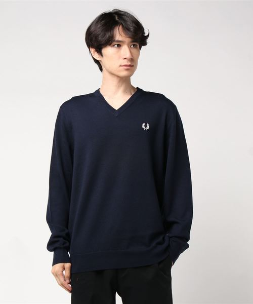 新作モデル Classic Merino V FRED V Neck Sweater(ニット Neck/セーター)|FRED PERRY(フレッドペリー)のファッション通販, うつわや悠々:b6998eb6 --- fahrservice-fischer.de