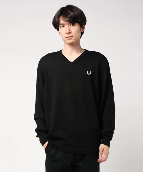 高品質の激安 Classic Merino V Neck Sweater(ニット FRED/セーター) Neck|FRED PERRY(フレッドペリー)のファッション通販, ソウリョウチョウ:3865ef33 --- fahrservice-fischer.de