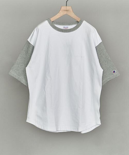 【別注】 <CHAMPION(チャンピオン)> 2TONE COLOR TEE/Tシャツ