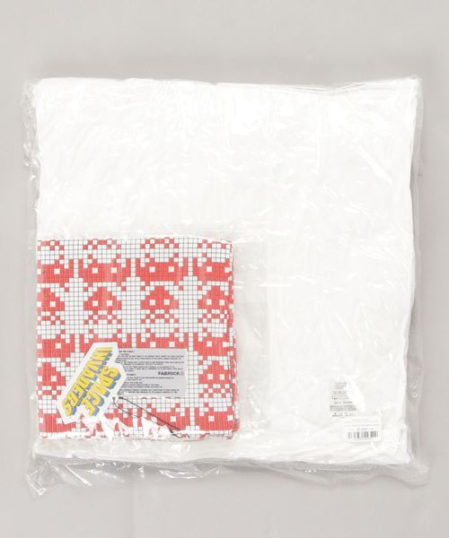 FABRICK【SPACE INVADERS】SQUARE CUSHION COVER + PILLOW