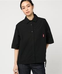 ラグランスリーブ 五分袖ルーズシャツ