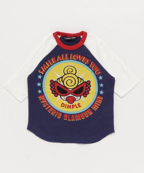STANDARD MARK DIMPLE コーマ天竺7分袖ラグランTシャツ